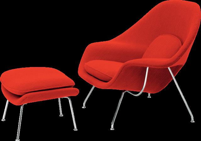 Saarinen Womb Chair and Ottoman
