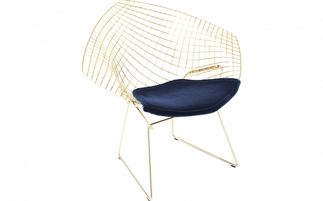 Bertoia Diamond Chair – Gold