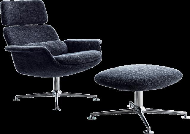 KN02 Reclining Chair & KN03 Footrest