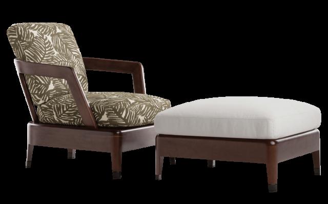 Virginia Outdoor Armchair and Ottoman